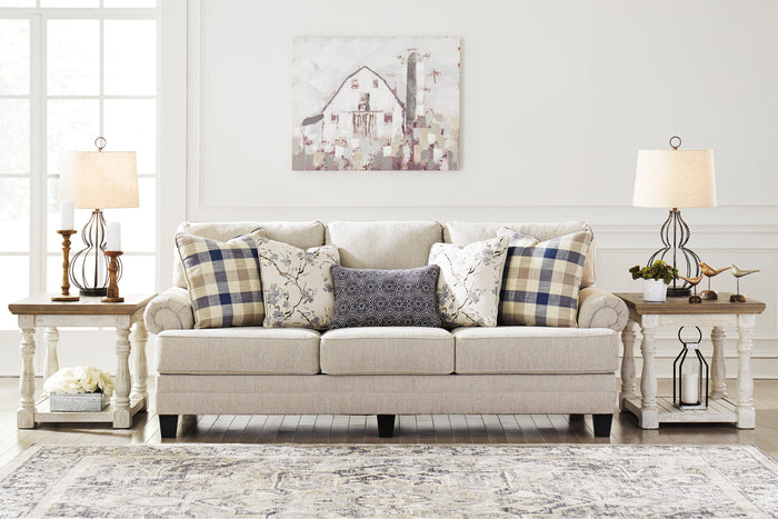 Megan Linen Fabric Living Room Collection with Optional Queen Size Sleeper