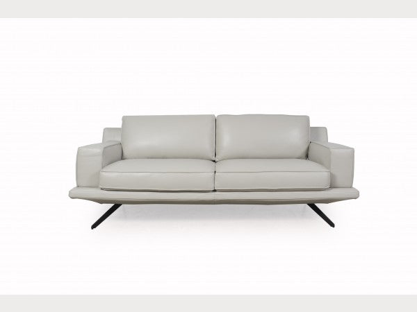 Mercier Grey Leather Living Room Collection