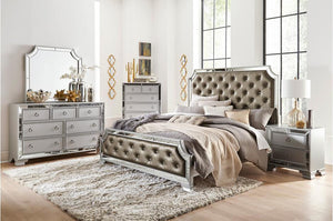 Avon Crystal Tufted Bedroom Collection