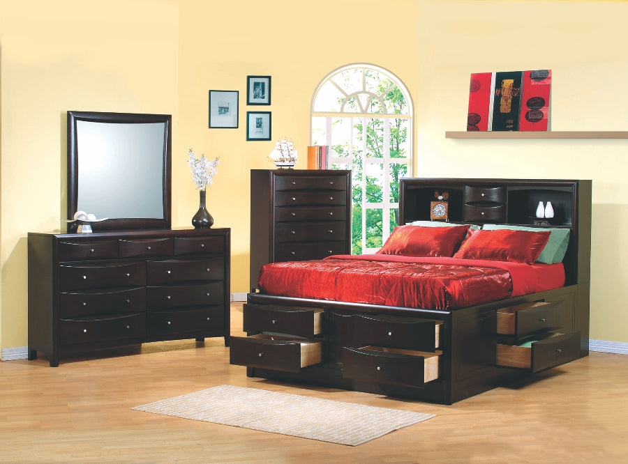 Phoenix Storage Bookcase Bedroom Collection