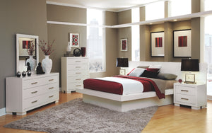 Jessica White Platform Bed with Lights