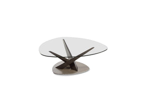 Crystal Triangular Glass Occasional Tables