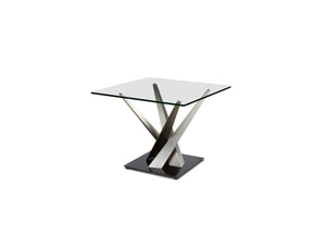 Crystal Rectangular Glass Occasional Tables