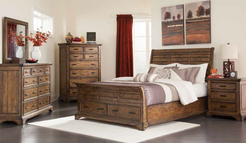Elk Grove Rustic Storage Bed