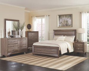 Hoffman Washed Taupe Bedroom Collection