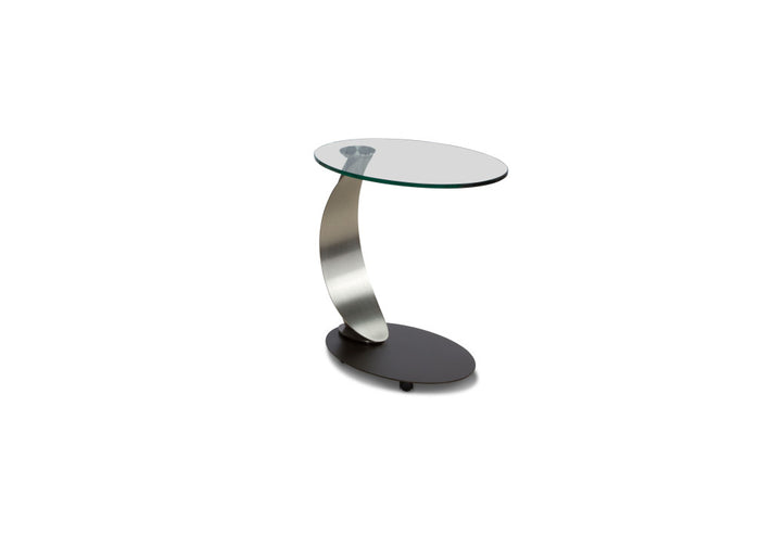 Scoop Oval Accent/Laptop Table with Casters