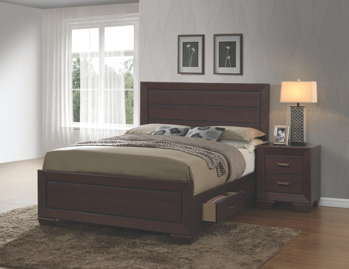 Brooke Dark Cocoa Storage Platform Bedroom Collection