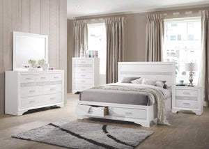 Mirah White Storage Platform Bedroom Collection