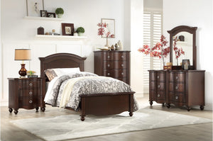 Maggie Traditional Bedroom Collection in Espresso or White Finish