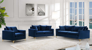 Noah Velvet Living Room Collection in 4 Color Options