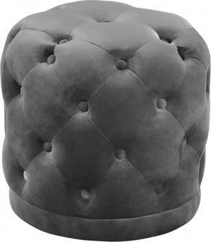 Harvey Tufted Round Velvet Ottoman in 7 Color Options