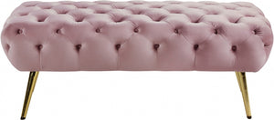 Amora Tufted Velvet Ottoman in 5 Color Options