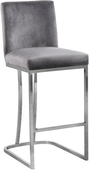 Aida Velvet Counter Height Stool in Black, Navy or Grey