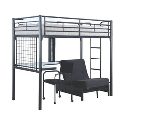 Workstation Loft Bed with Futon