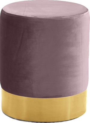Joyce Velvet Ottoman with Gold Base in 6 Color Options