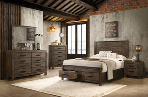 Monet Rustic Storage Bedroom Collection