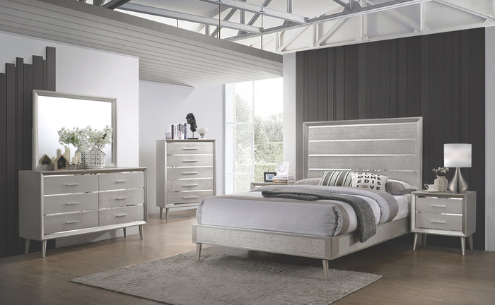 Robin Metallic Glam Bedroom Collection