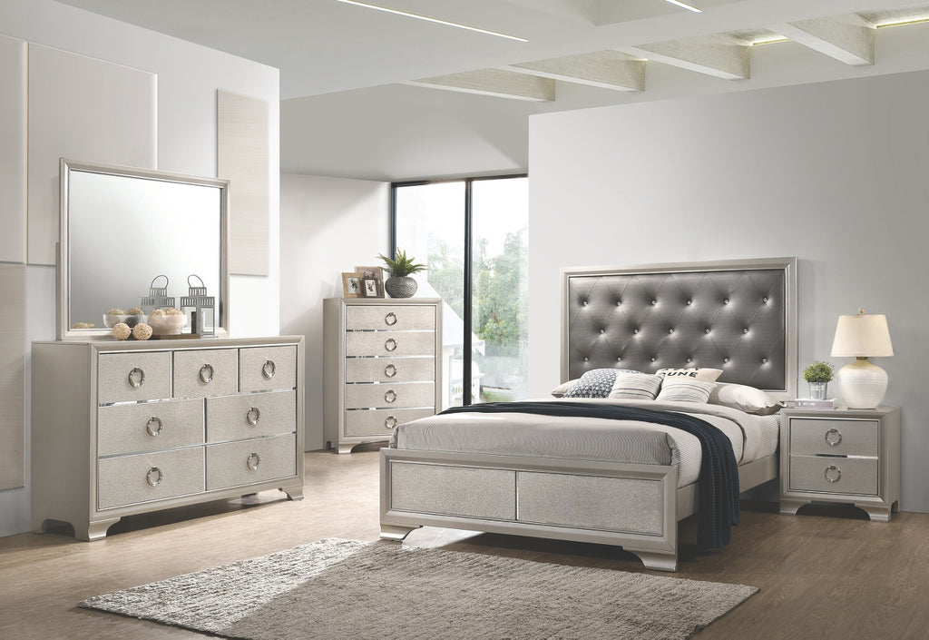 Salma Metallic Glam Bedroom Collection