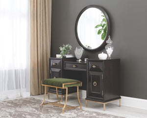 Foreman Upholstered Platform Bedroom Collection in 2 Finishes