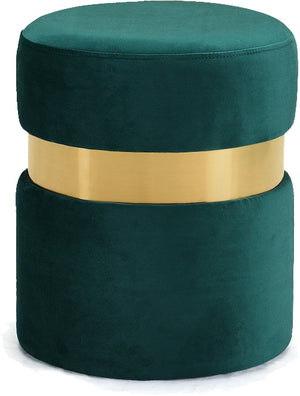 Heidi Round Velvet Ottoman in 6 Color Options