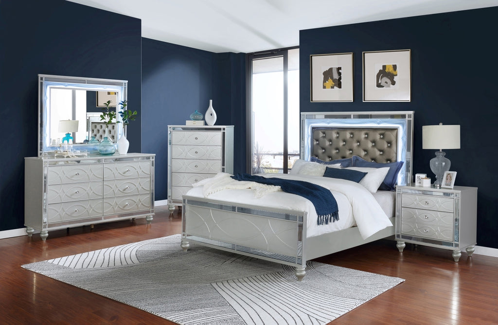 Gunner Metallic Glam Bedroom Collection