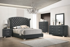 Melanie Grey Velvet Bedroom Collection