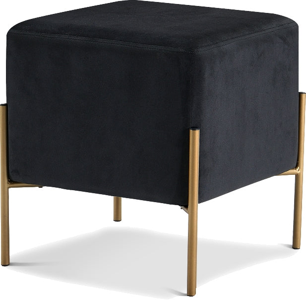 Elsa Square Velvet Ottoman in 6 Color Options