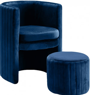 Sienna Velvet Accent Chair and Ottoman in 6 Color Options