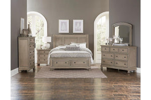 Beth Sleigh Platform Bedroom Collection with Storage Footboard