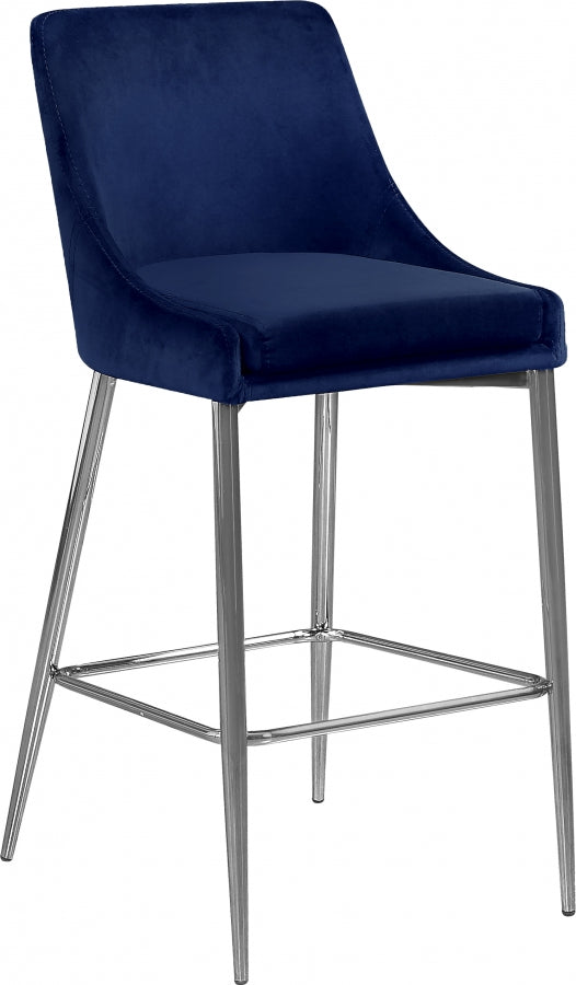 Catrina Velvet Counter Height Stool in 3 Color Options