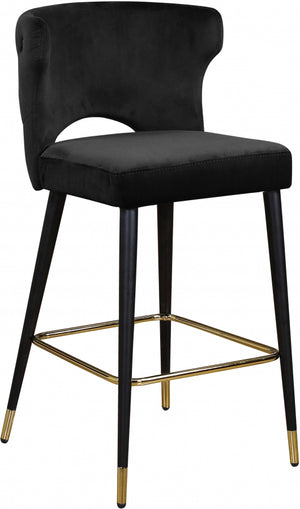 Lilly Velvet Counter Height Stool in 5 Color Options