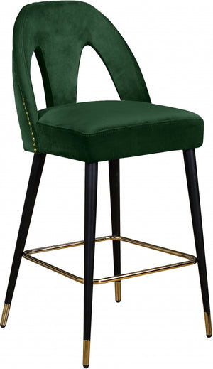Aleyda Velvet Counter Height Stool in 5 Color Options