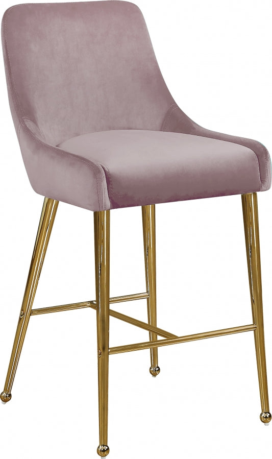 Catrina Velvet Counter Height Stool in 5 Color Options