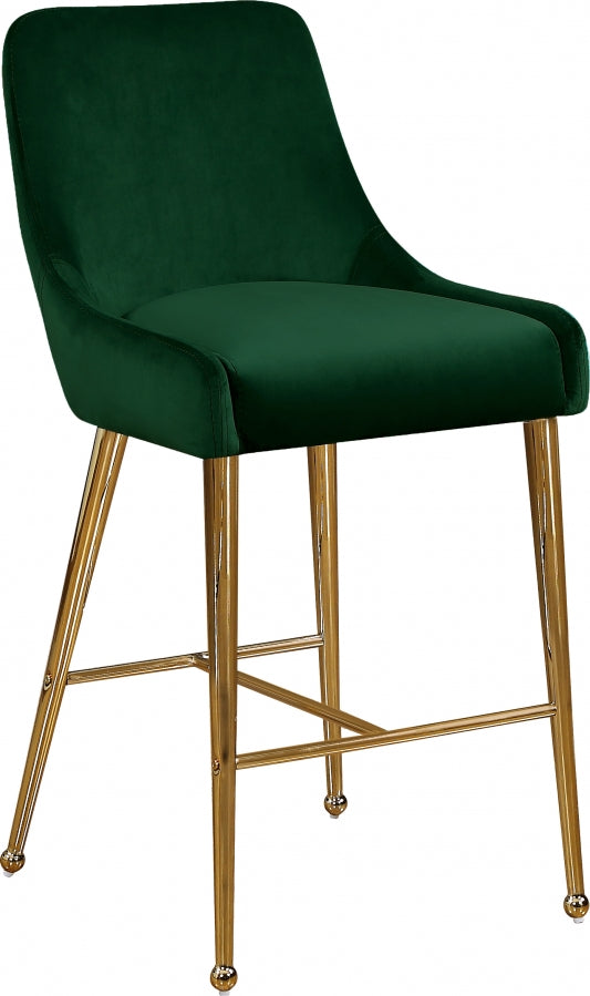 Gwen Velvet Counter Height Stool in 5 Color Options