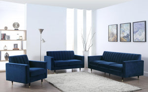 Lea Channel Tufted Living Room Collection in 3 Color Options