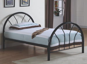 Roger Park Twin Metal Bed With 2-inch Tubing in 3 Colors Options