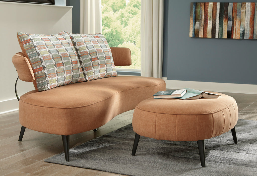 Holly Contemporary Rust Sofa