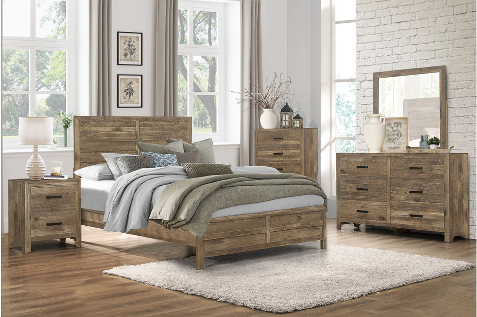 Manila Rustic Bedroom Collection in Weathered Pine