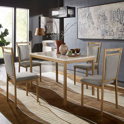 Gold Faux Marble 5 Piece Dinette Set