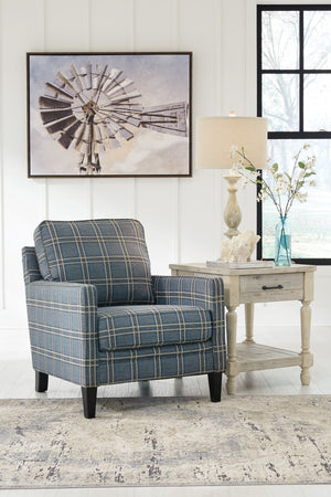 Tracy Blue Fabric Accent Chair