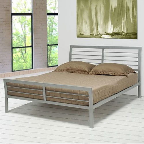 Contemporary Metal Platform Bed