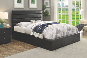 Rivers Black Leatherette Hydraulic Lift Storage Bed