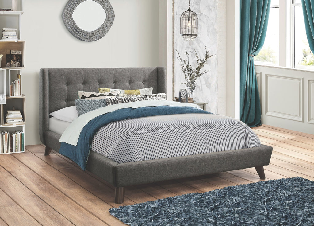 Harrington Mid Century Modern Tufted Platform Bedroom Collection