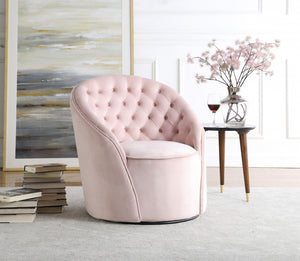 Alessa Tufted Velvet Swivel Accent Chair in 4 Color Options