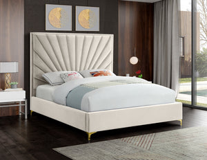 Echo Tufted Velvet Bed in 4 Color Options