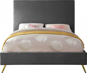 Jovina Velvet Bed in 4 Color Options