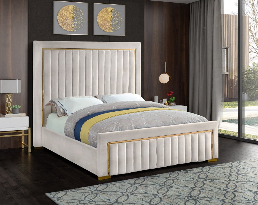 Dolan Velvet Platform Bed in 4 Color Options