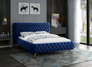 Langston Velvet Tufted Platform Bed in 4 Color Options