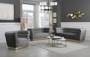 Annabelle Velvet Living Room Collection in 5 Color Options