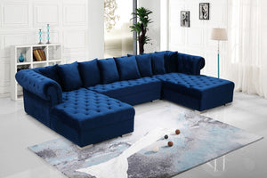 Preston Tufted Velvet Sectional in 5 Color Options